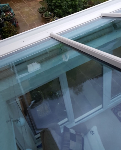 glass roof after