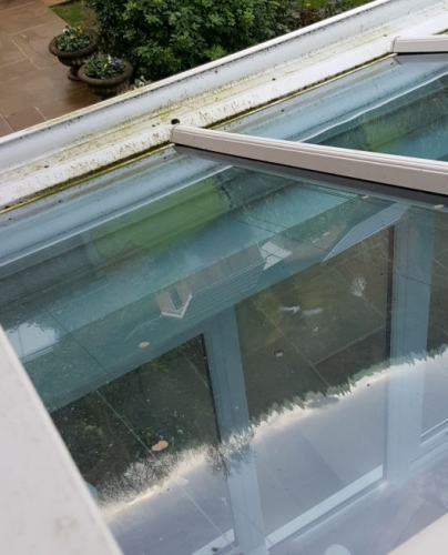 glass roof before